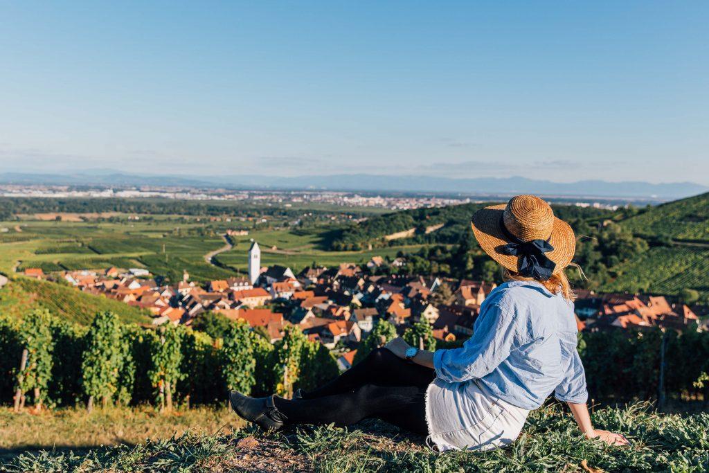 Overlooking Vineyards in Kaysersberg, Alsace