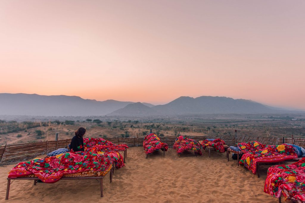 'Sleeping in the desert in Pushkar'- The best way to travel India: solo or group tour