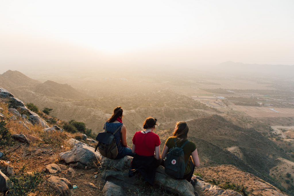 'Sunset on top Pushkar Mountain'- The best way to travel India: solo or group tour