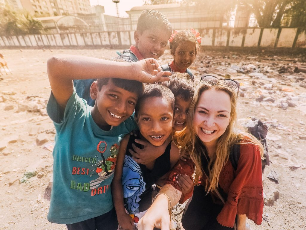 'Children at the Mumbai Slums'- The best way to travel India: solo or group tour