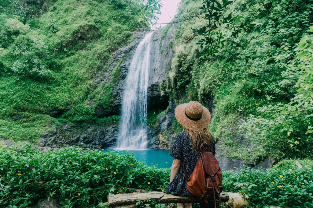 Holiday in Tahiti- Waterfall in Papenoo Valley